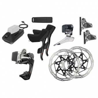 SRAM RED eTap Kit HRD WiFLi 2x11 Upgrade-Set - Flat Mount