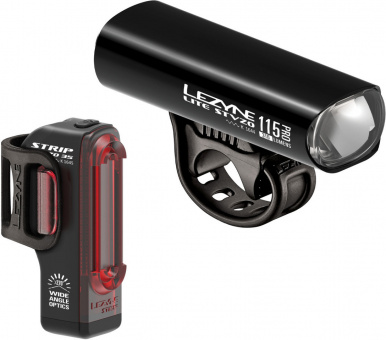 Lezyne LED Fahrradbeleuchtungsset Lite Pro 115 StVZO + Strip Drive StVZO